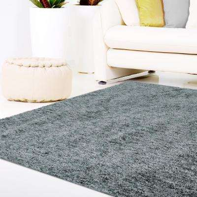 Soft Touch Shag Grey 5 ft. x 7 ft. Area Rug