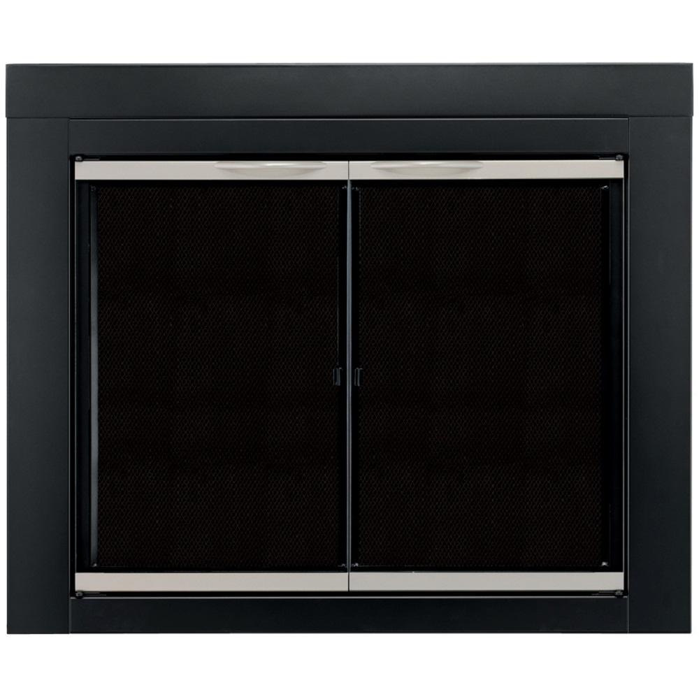 Pleasant Hearth Alsip Medium Glass Fireplace Doors
