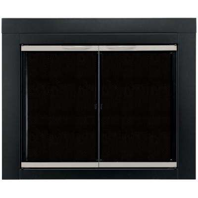 Alsip Large Glass Fireplace Doors
