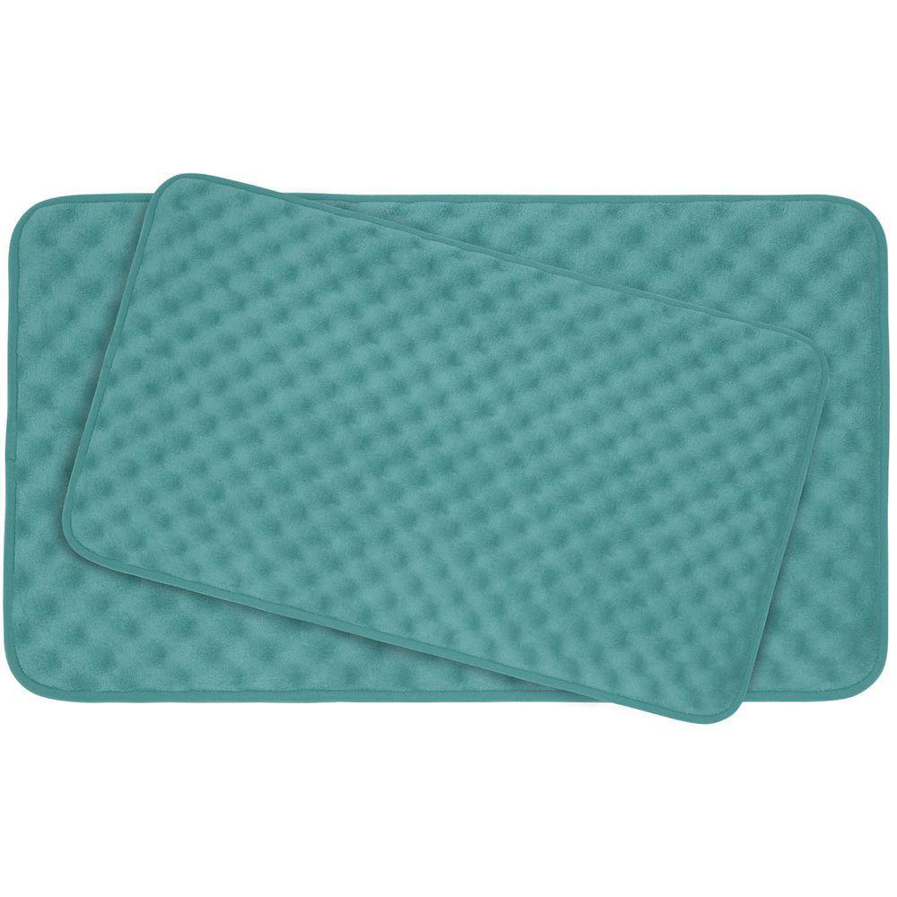 Bouncecomfort Massage Marine Blue Memory Foam 2 Piece Bath