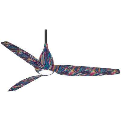 Tear 60 in. Integrated LED Indoor Tie Dye Ceiling Fan with Light with Remote Control