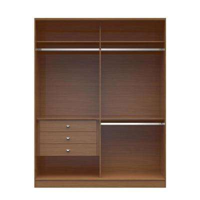 Chelsea 2.0 - 70.07 in. W Maple Cream Double Basic Wardrobe with 3-Drawers