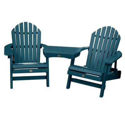 Hamilton Nantucket Blue 3-Piece Recycled Plastic Outdoor Conversation Set