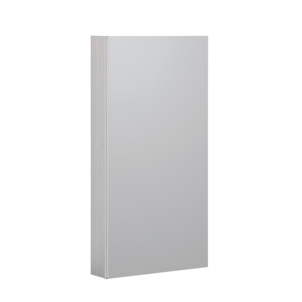 Boyel Living 15 in. x 36 in. Recessed or Surface Frameless 1-Door Medicine Cabinet with 3-Adjustable Shelves