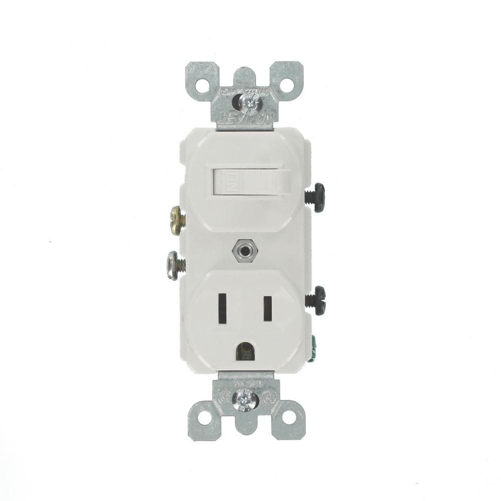 white leviton electrical outlets receptacles 5225 w 64_1000 leviton 15 amp commercial grade combination single pole toggle
