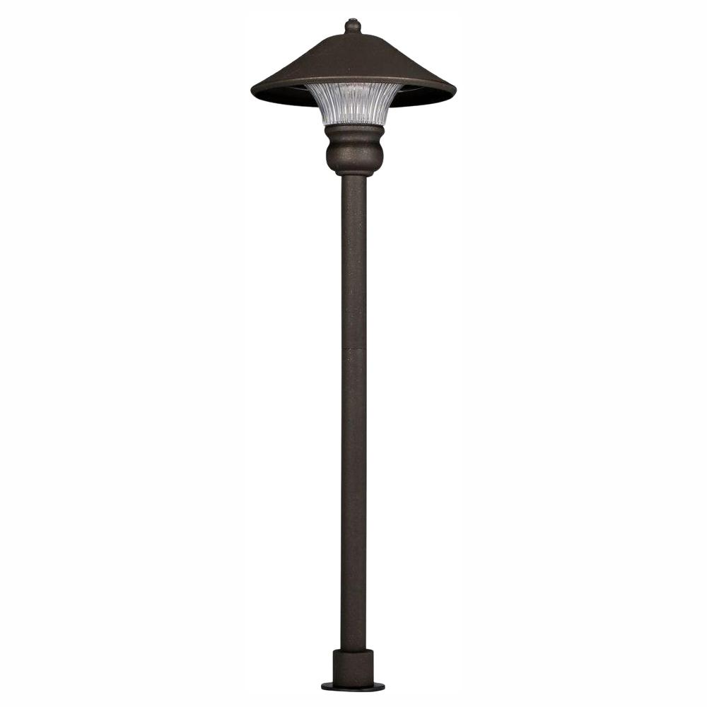 Low-Voltage 10-Watt Equivalent Bronze Outdoor Integrated LED Landscape Path Light