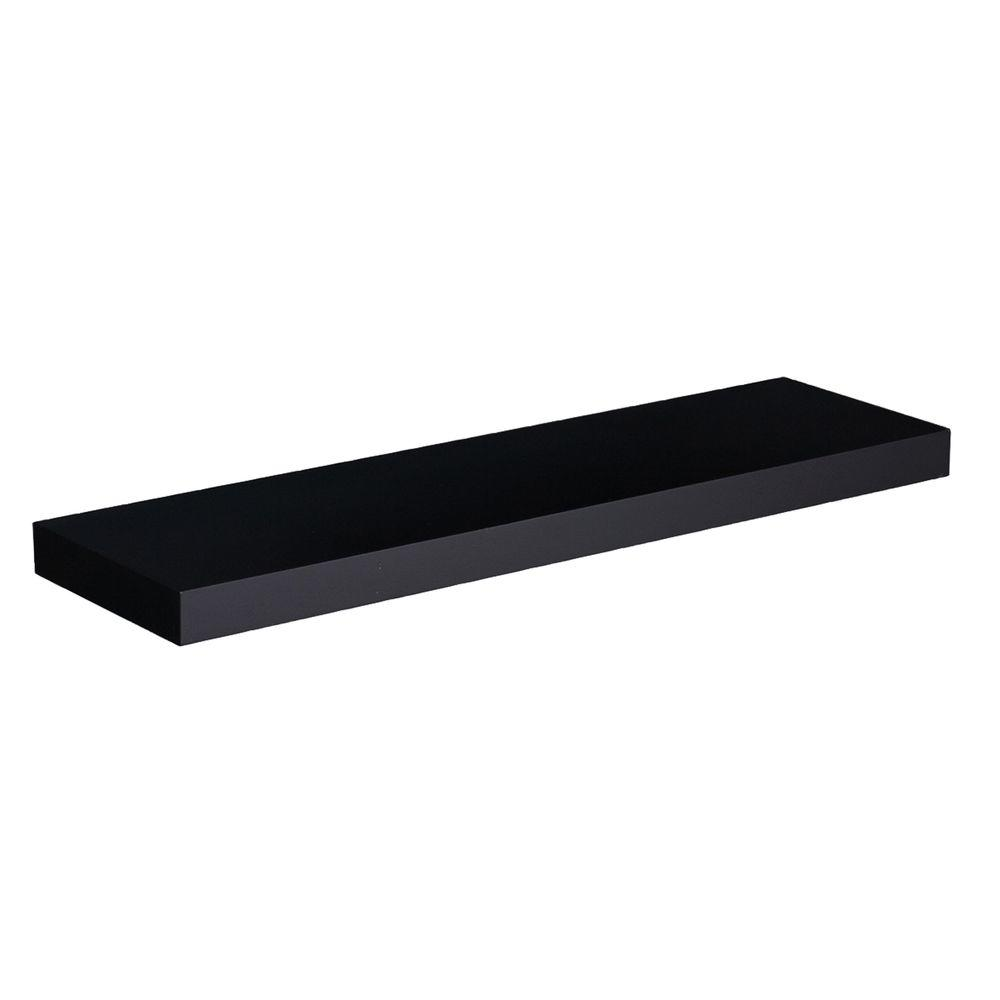 Southern Enterprises 10 in. Chicago Black Floating Shelf (Price Varies By Length)