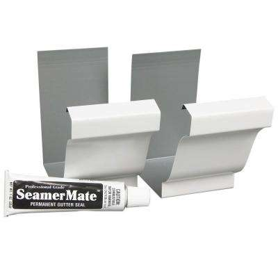6 in. White Gutter Seamers (2-Pack)