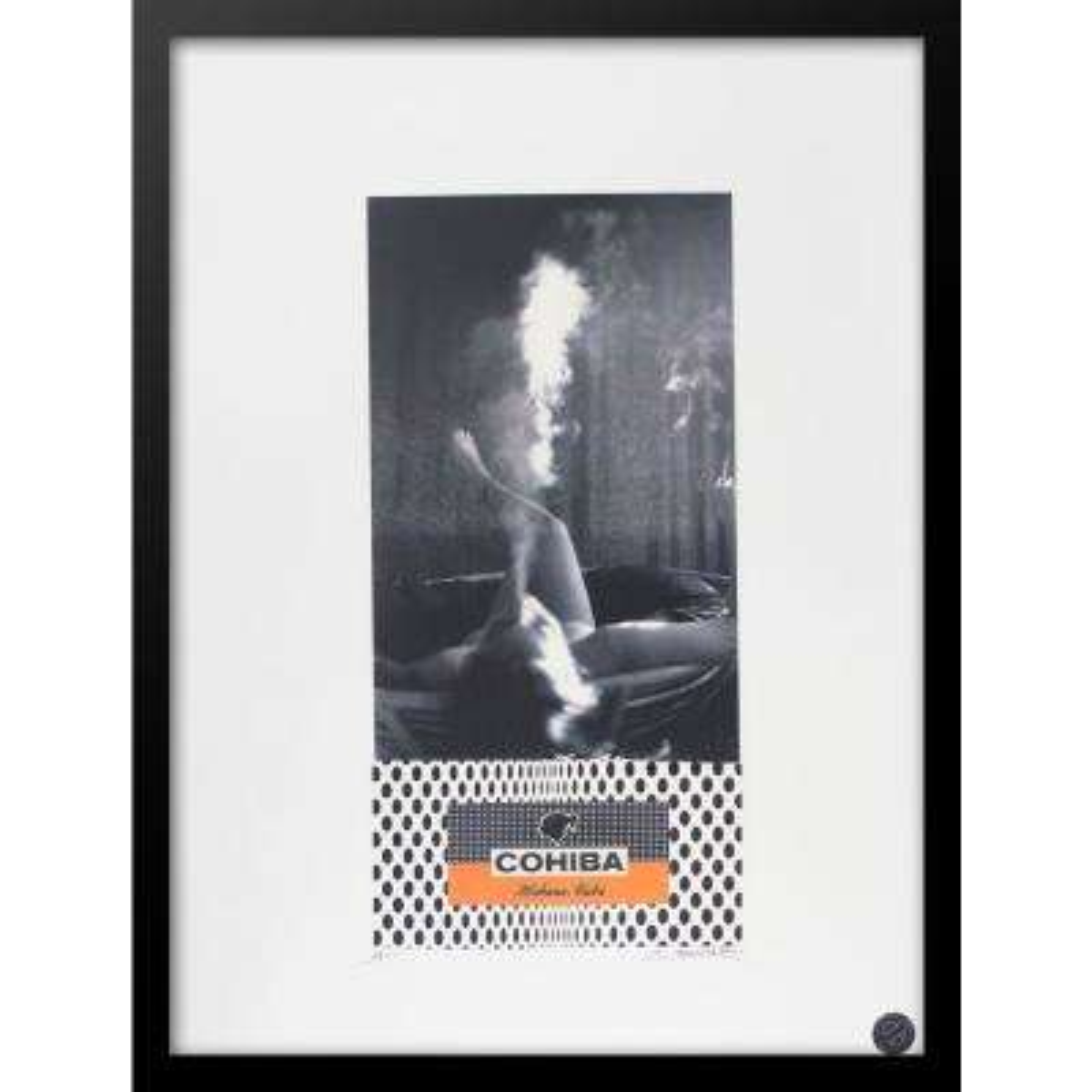 """30 in. x 22 in. """"Engaged VIP Cohiba Cigar Series"""" by Fairchild Paris Framed Print Ad Wall Art"""