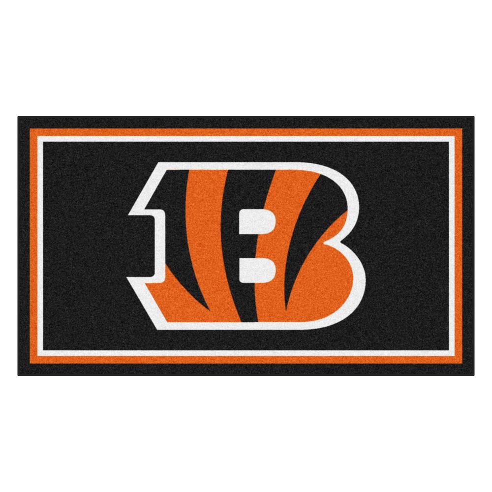 NFL - Cincinnati Bengals 3 ft. x 5 ft. Ultra Plush Area Rug