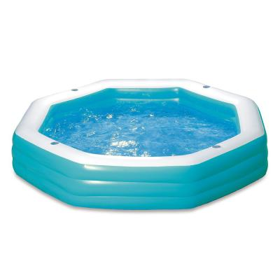 Family 110 in. x 110 in. Octagon 20 in. D Inflatable Pool