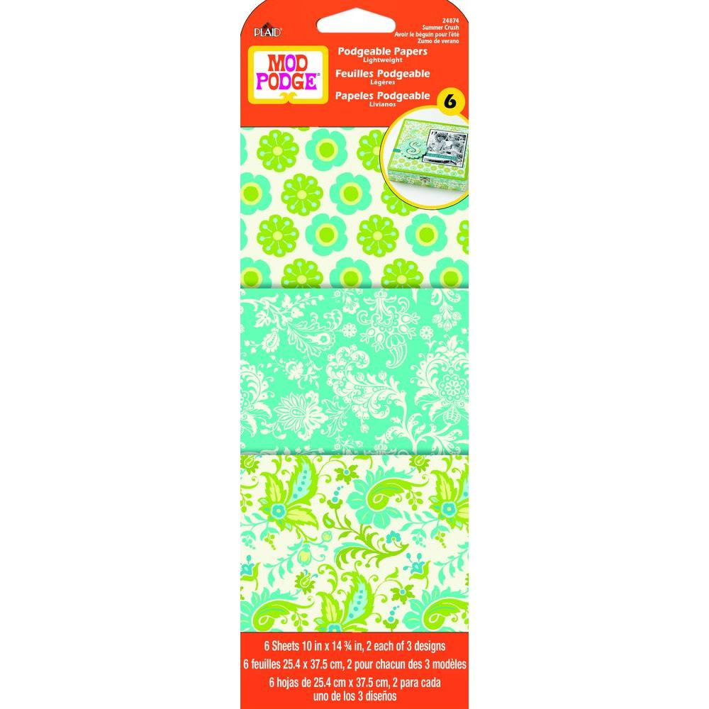 Mod Podge 6 Sheet Paper Summer Crush