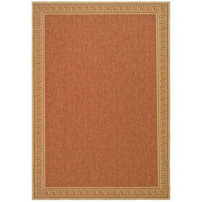 Byzantium Terracotta/Beige 4 ft. x 6 ft. Indoor/Outdoor Area Rug