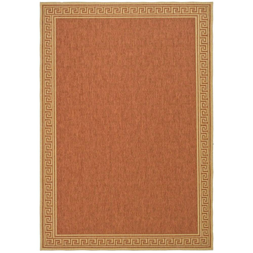 Martha Stewart Living Byzantium Terracotta/Beige 6 ft. 7 in. x 9 ft. 6 in. Indoor/Outdoor Area Rug