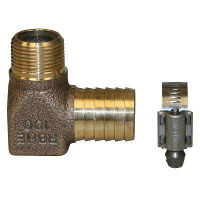 Hydrant Installation Kit Contains 1 RBHENL100 No Lead Bronze 3/4 in. MIP x 1 in. INS 90-Degree Elbow 1 M67127 SS Clamp