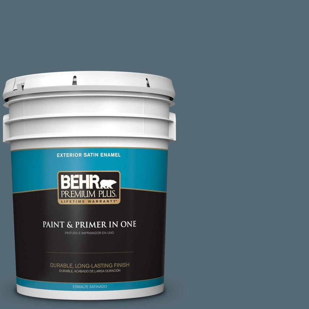 5-gal. #ECC-64-3 Desert Night Satin Enamel Exterior Paint