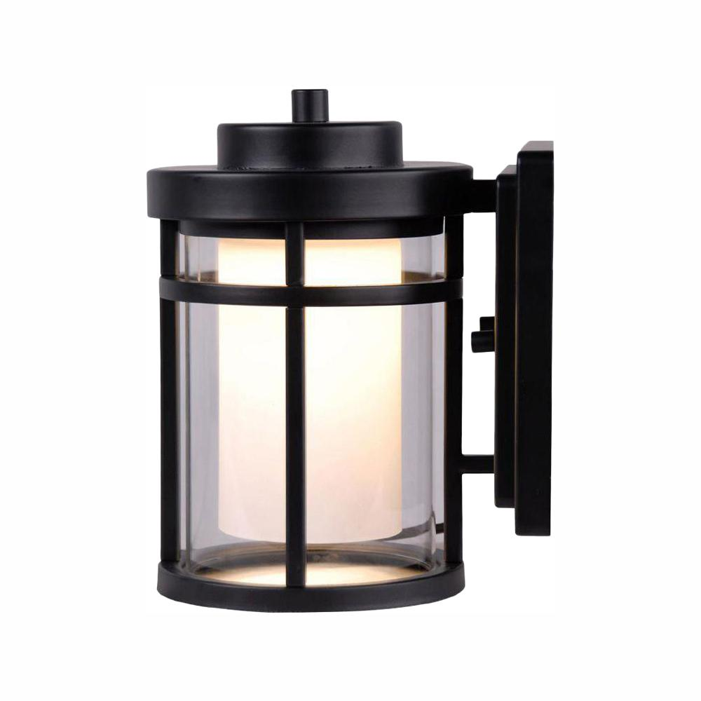 Hdc Home Decorators: Home Decorators Collection Black Outdoor LED Small Wall