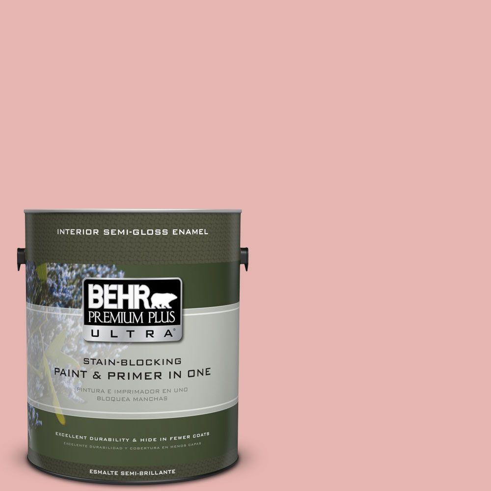 1 gal. #HDC-SP16-09 Dahlia Semi-Gloss Enamel Interior Paint