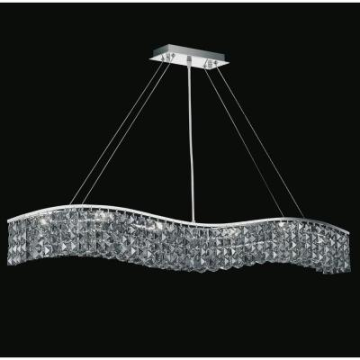 Glamorous 7-Light Chrome Chandelier