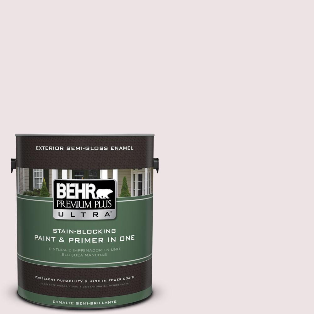 Behr Premium Plus Ultra 1 Gal 110e 1 Whimsical White Semi Gloss Enamel Exterior Paint And Primer In One 585001 The Home Depot