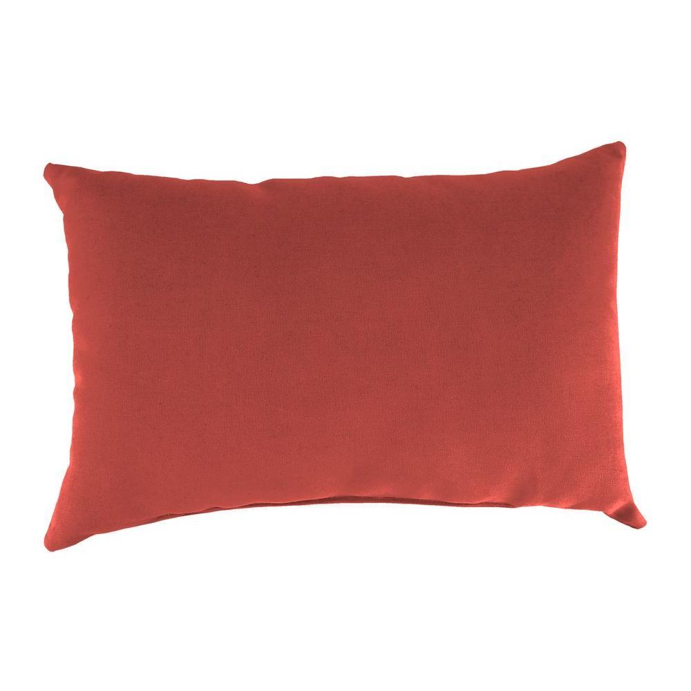 Sunbrella 9 in. x 22 in. Canvas Henna Lumbar Outdoor Pillow