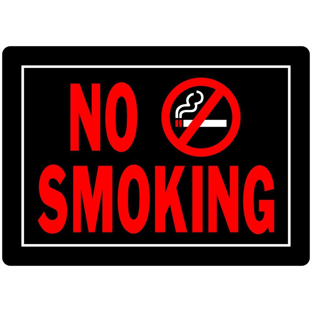 Everbilt 10 in. x 14 in. Aluminum No Smoking Sign