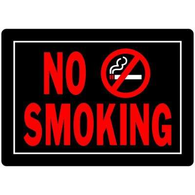 10 in. x 14 in. Aluminum No Smoking Sign