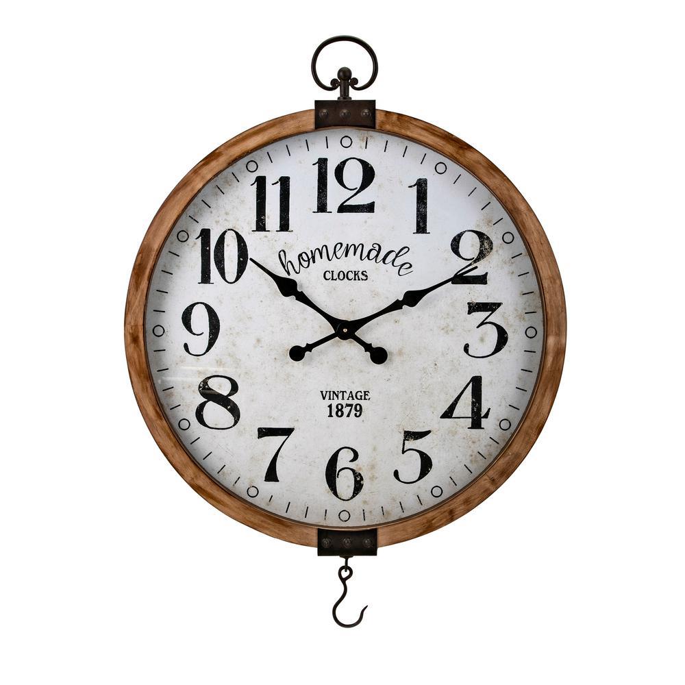 Johnson Beige Rustic Wall Clock