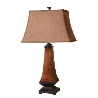 30 in. Rustic Brown Table Lamp