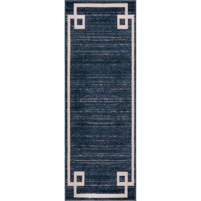 Uptown Collection by Jill Zarin™ Lenox Hill Navy Blue 2' 2 x 6' 0 Runner Rug