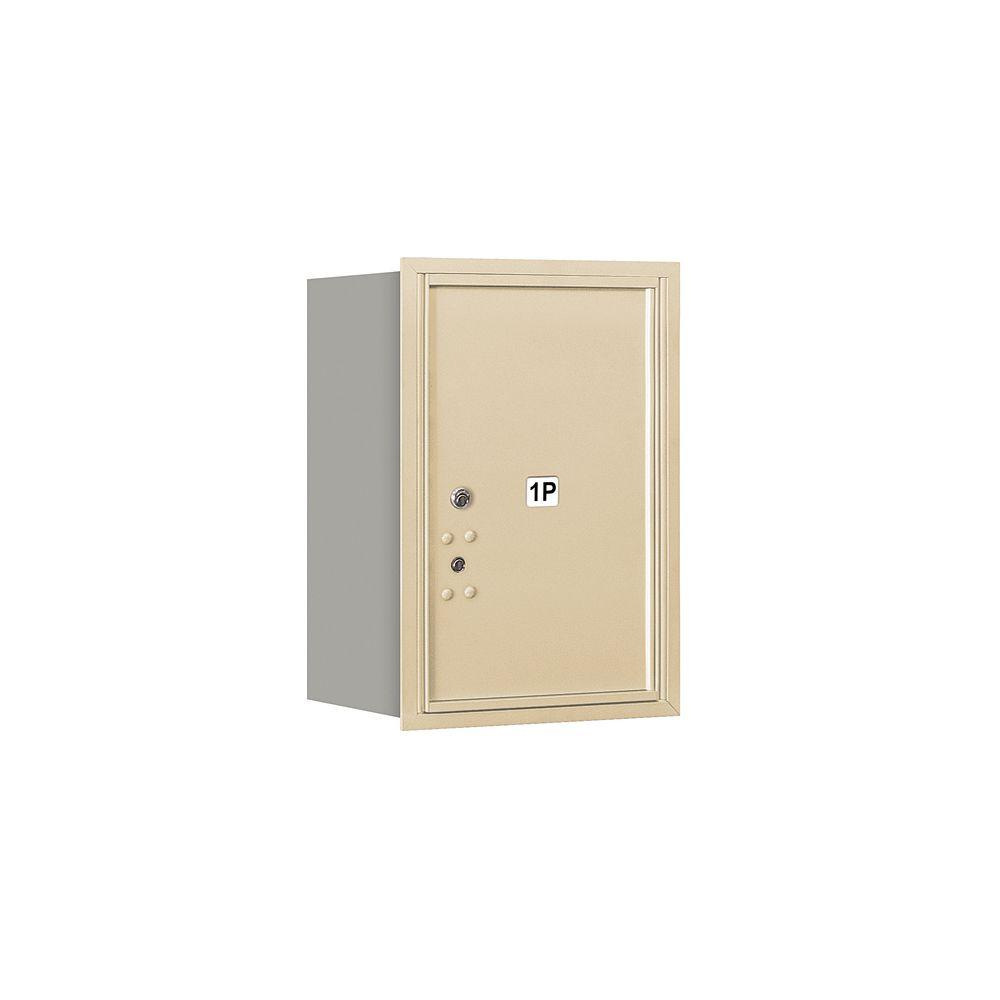 Salsbury Industries 3700 Series Private Rear Loading 6 Door High Unit 23-1/2 in. Parcel Locker 1 PL6 4C Horizontal Mailbox in Sandstone