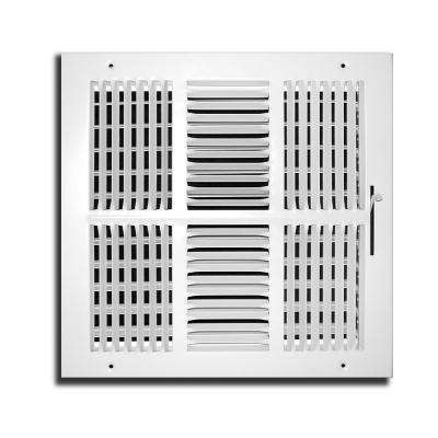 14 in. x 14 in. 4 Way Wall/Ceiling Register