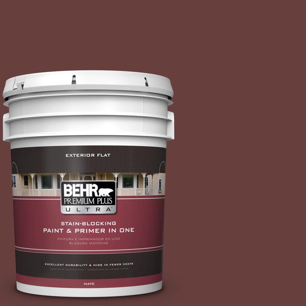 BEHR Premium Plus Ultra 5-gal. #S-G-730 Tawny Port Flat Exterior Paint