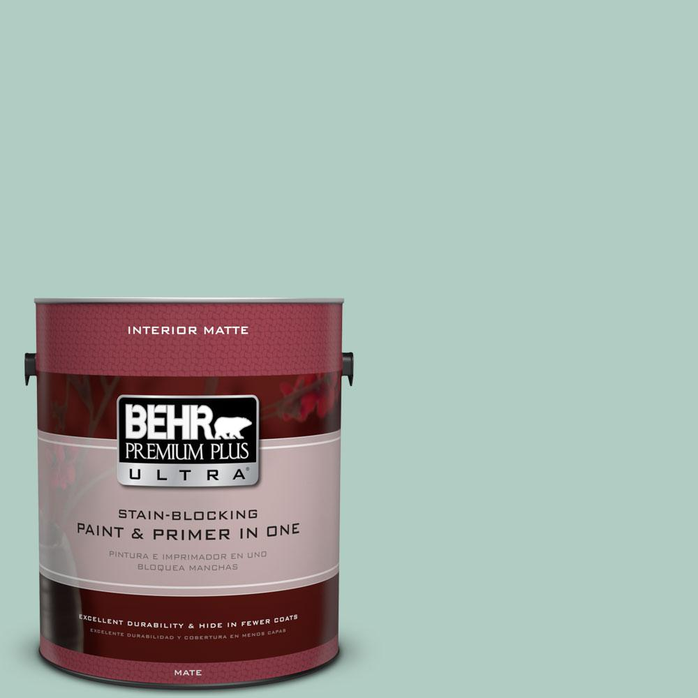 BEHR Premium Plus Ultra 1 gal. #M430-3 Wintergreen Dream Matte Interior Paint