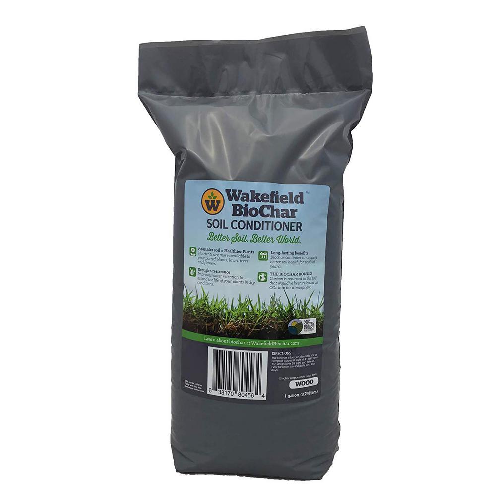 1 Gal. Premium Biochar Organic Garden Soil Conditioner