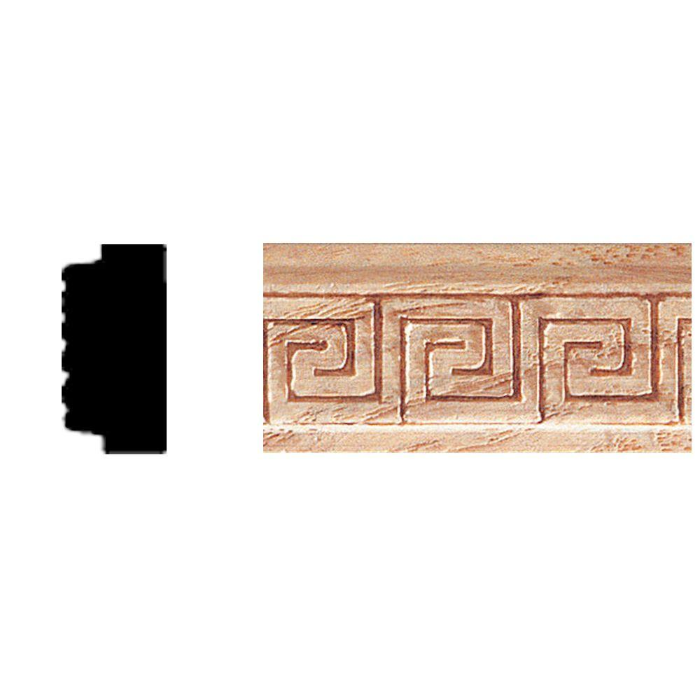 3/8 in. x 3/4 in. x 8 ft. Oak Embossed Greek