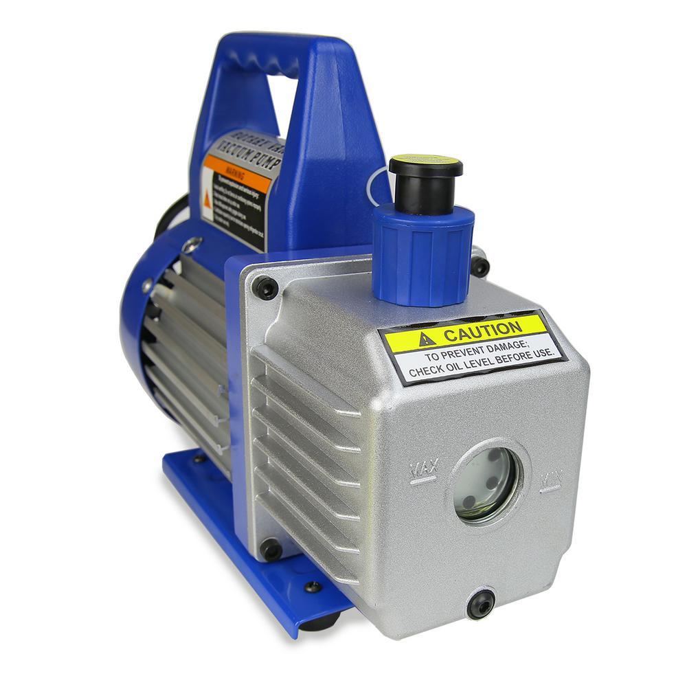 Stark 1/3 HP 4 CFM Rotary Air Vacuum Pump HVAC A/C Refrigerant