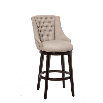 Halbrooke 24 in. Chocolate and Cream Swivel Counter Stool