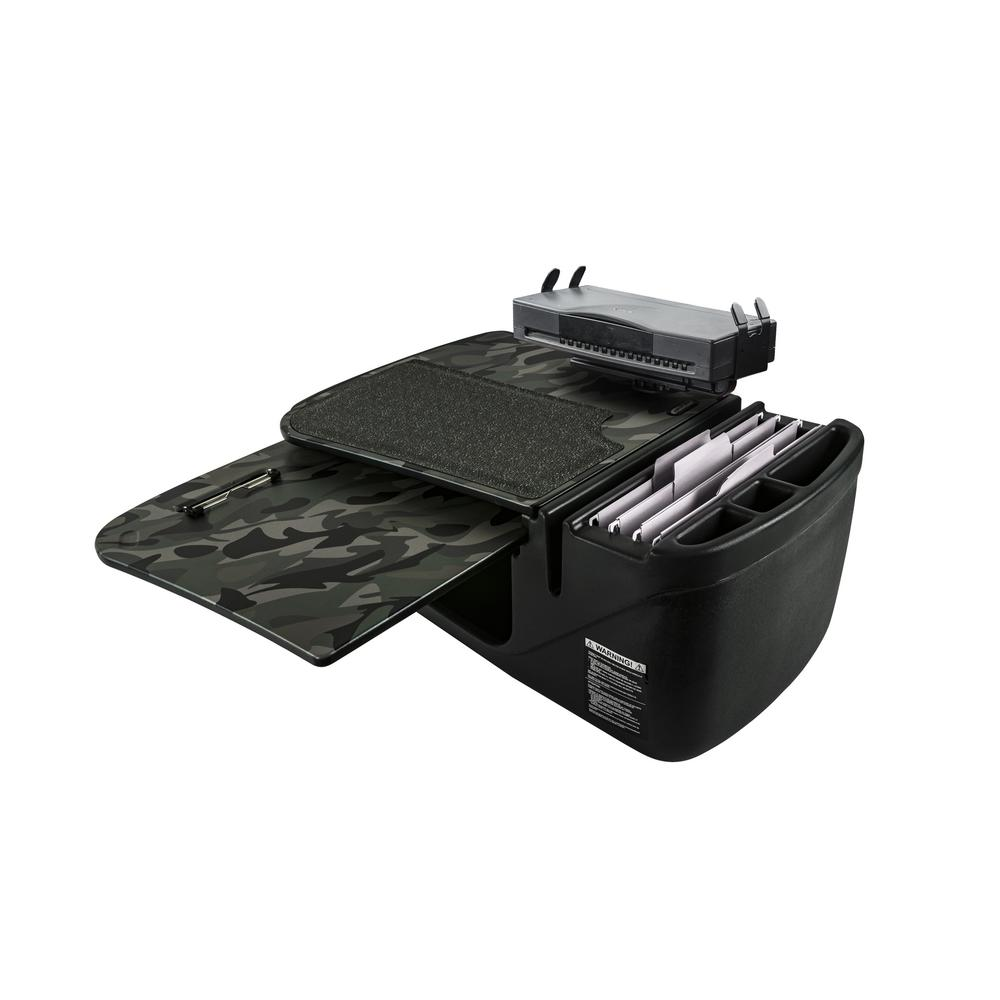 GripMaster Green Camouflage Car Desk with Printer Stand