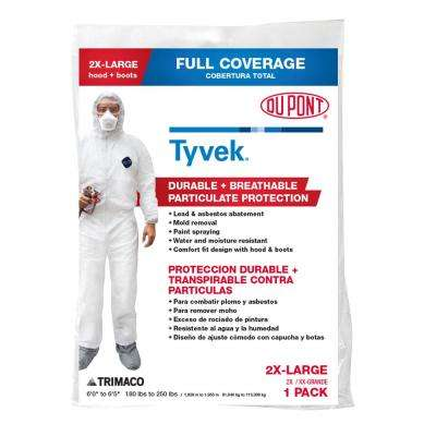 DuPont Tyvek Unisex 2 XL Painters Coverall with Hood and Boots