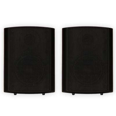 Indoor or Outdoor Speakers Mountable Black Pair