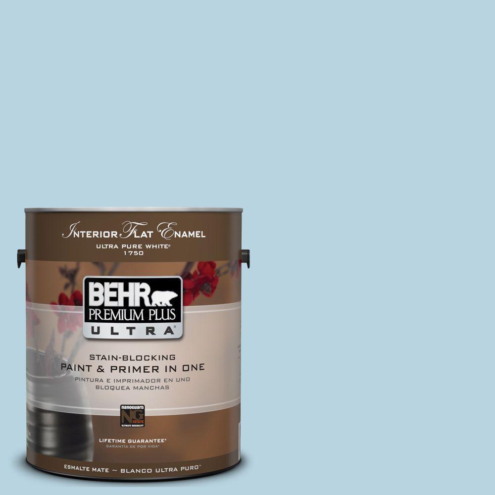 BEHR Premium Plus Ultra 1-Gal. #UL230-12 Millstream Interior Flat Enamel Paint
