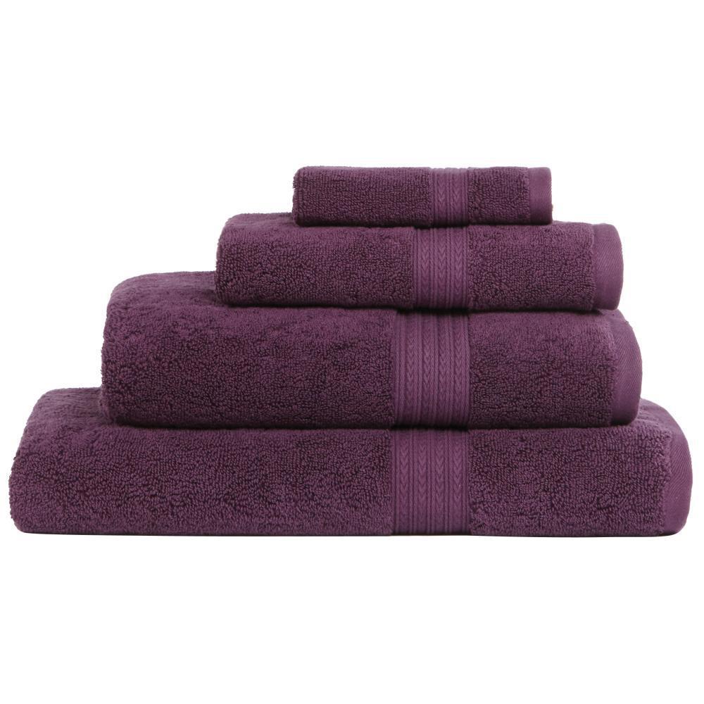 Home Decorators Collection Newport 1 Piece Bath Towel In Plum 9854920370 The Home Depot