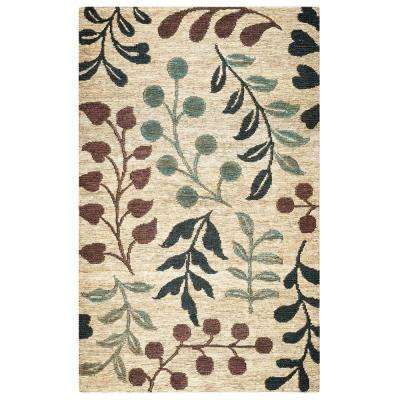Whittier Natural Multicolor Jute 5 ft. x 8 ft. Indoor Area Rug