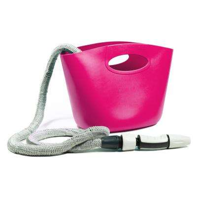 Aquapop 1 in. x 50 ft. Fuchsia Mini Extendable Hose Kit