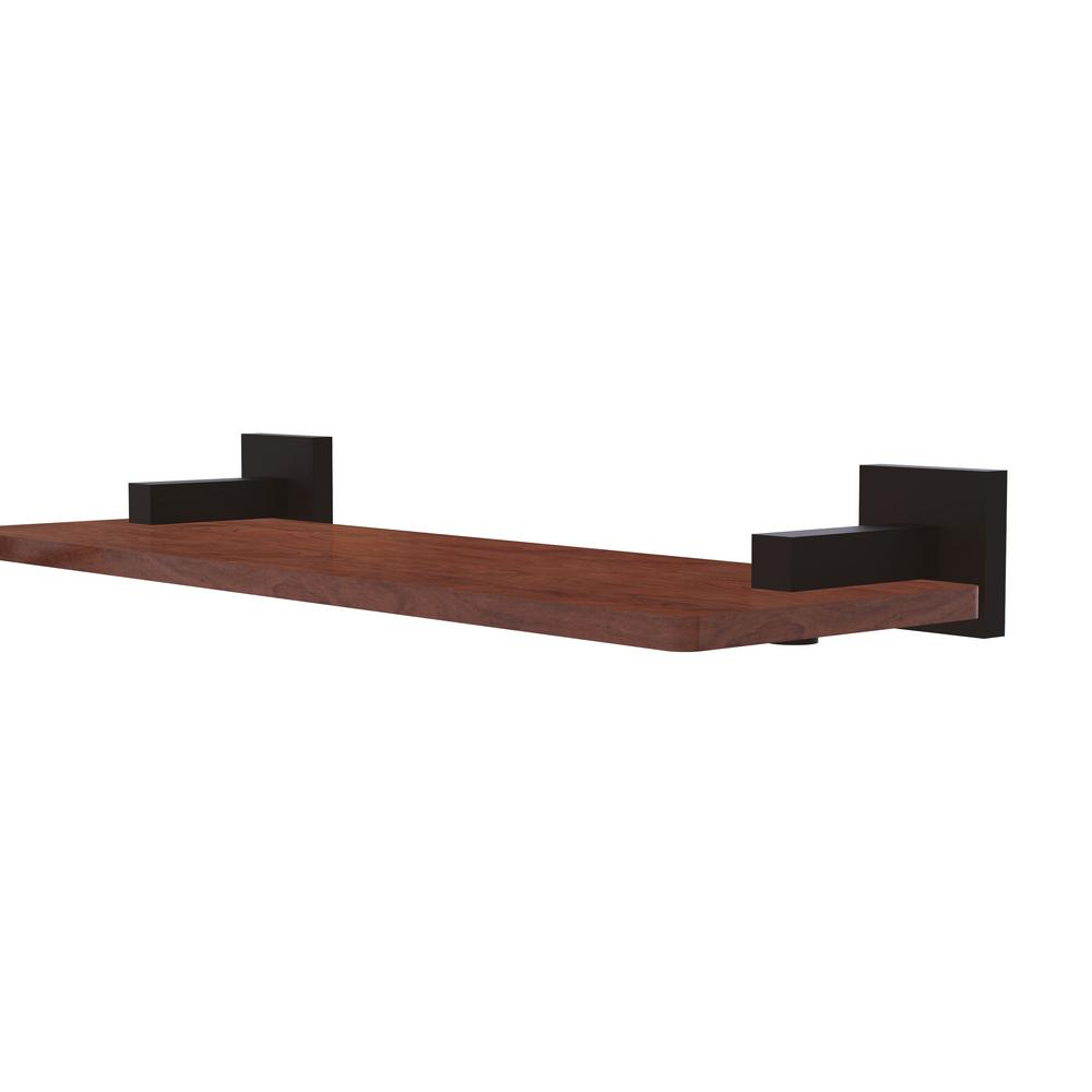 Allied Br Montero Collection 16 In Solid Ipe Ironwood Shelf Oil Rubbed Bronze