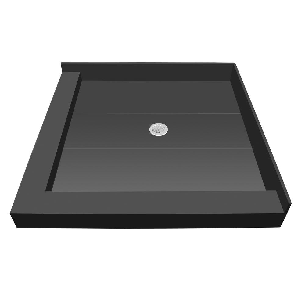 Redi Base 42 In. X 36 In. Double Threshold Shower Base With Center  Drain P4236CDL PVC   The Home Depot