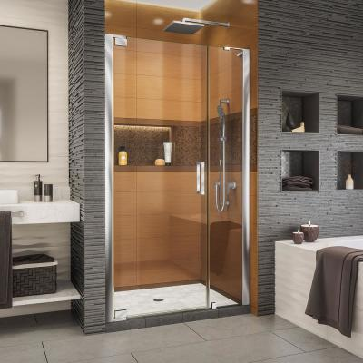 Elegance-LS 35-1/4 in. to 37-1/4 in. W x 72 in. H Frameless Pivot Shower Door in Chrome