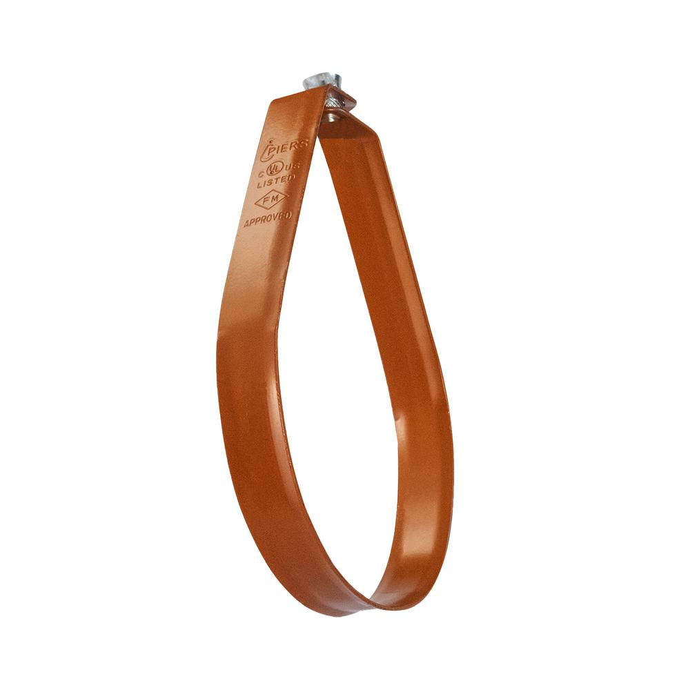 The Plumber's Choice 2 in  Swivel Loop Hanger for Vertical Pipe Support in  Copper Epoxy Coated Steel