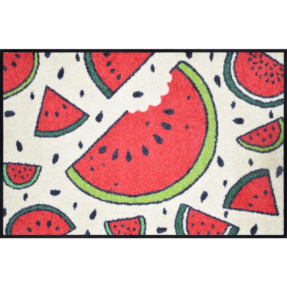 Whimsy Watermelon Time 20 in. x 30 in. Nylon Doormat
